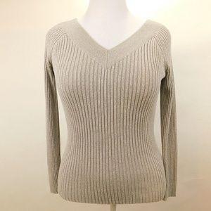 New York Company Womens Medium Knit Sweater Gray